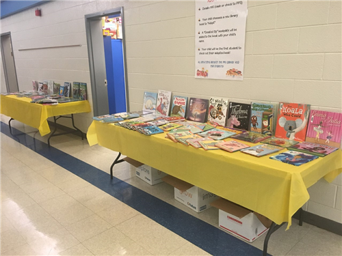 Adopt a Book table