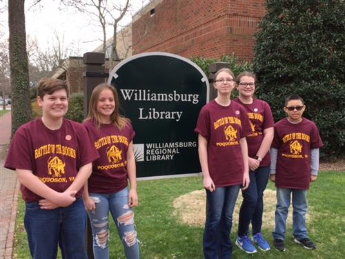Battle of the Books Middle School Team