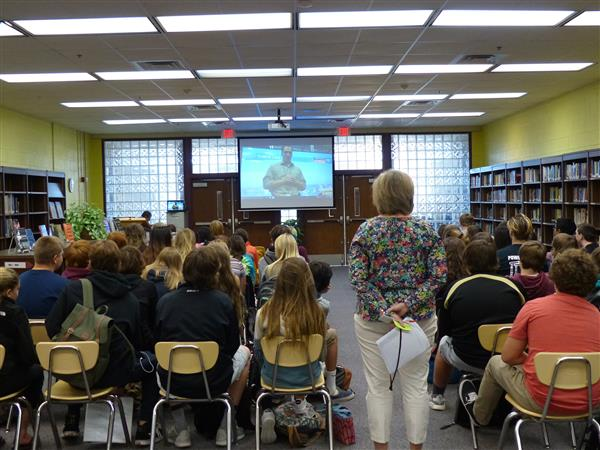 Students Skype with Jeremy Wheeler of WAVY News 10