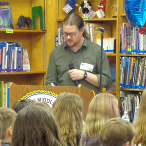 Author Visits Poquoson Middle School