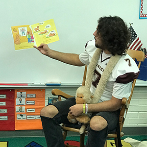 Senior Athlete Encourages Love of Reading