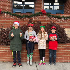 PES Kiwanis Kids Spread Christmas Cheer