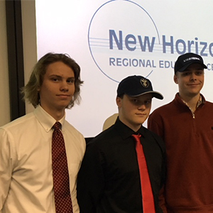 Poquoson Students at Signing Day at New Horizons Regional Education Center