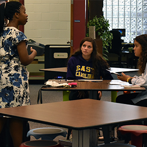 UMW Visits Poquoson High School