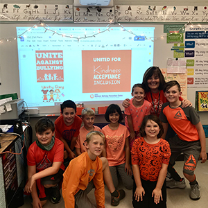 PES SPORTS ORANGE FOR UNITY DAY DURING NATIONAL BULLYING PREVENTION MONTH