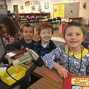 First Graders Enjoy Their School Library